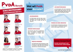 PvdA Borsele A3 flyer